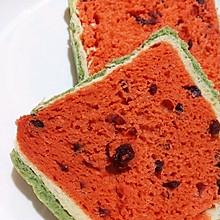 超级美艳的西瓜吐司面包