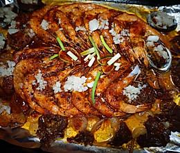 懒人海鲜烧烤大餐的做法