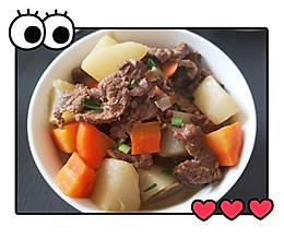 牛肉炖萝卜  小白也能变厨神的做法