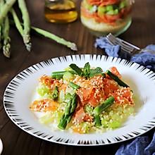 #餐桌上的春日限定#三文鱼芦笋沙拉