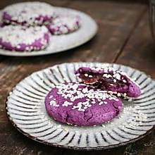 紫薯糯米饼#蒸派or烤派#