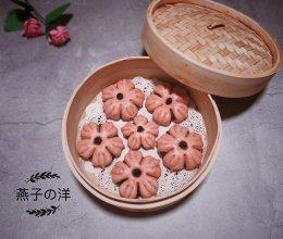 豆沙包之樱花朵朵开的做法