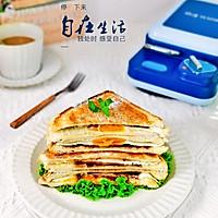 #夏日撩人滋味#豆沙鸡蛋三明治的做法图解10