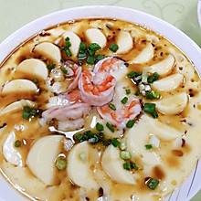 #憋在家里吃什么#减脂餐鲜虾蒸日本豆腐