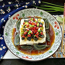 #父親節,給老爸做道菜#皮蛋拌豆腐