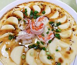#憋在家里吃什么#减脂餐鲜虾蒸日本豆腐的做法