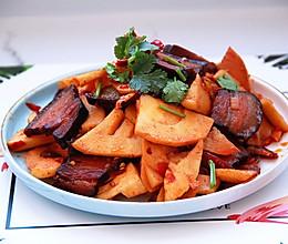 腊肉炒春笋的做法