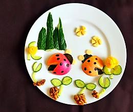 水果拼盘~可爱的瓢虫宝宝的做法