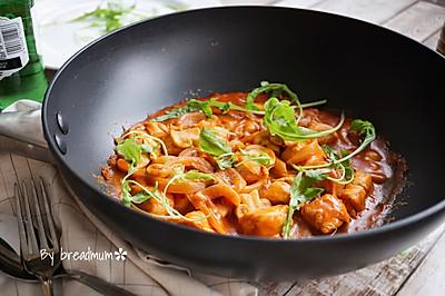 茄汁蘑菇鸡肉# MEYER·焕新厨房,唤醒美味#