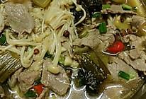 金针菇酸菜牛肉汤的做法