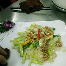 螺片百合炒芦笋