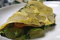 玉米面煎饼果子杂粮煎饼(薯片代替果子版)的做法