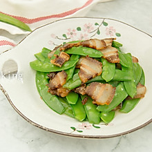#花10分钟,做一道菜!#荷兰豆炒腊肉