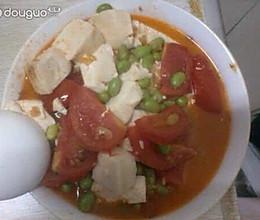 番茄毛豆豆腐汤的做法