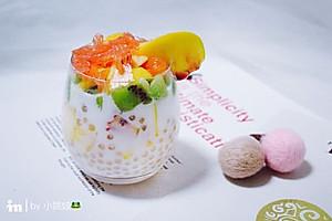 水蜜桃椰汁西米露【图片】