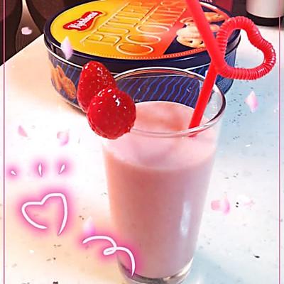 超懒人版草莓奶昔