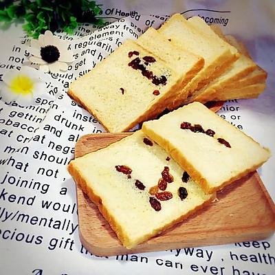 葡萄干吐司面包~~好吃到爆