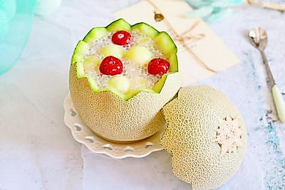 玫珑椰香西米露#百变水果花样吃#
