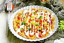 #做道好菜,自我宠爱#薄底手抓饼披萨的做法