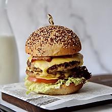 双层猪肉汉堡#做道好菜,自我宠爱!#