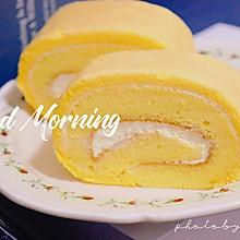 """#""""佳""""节好滋味#奶油蛋糕卷:早上也可以吃的蛋糕卷!"""