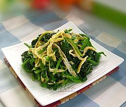 芝麻蛋皮拌菠菜的做法