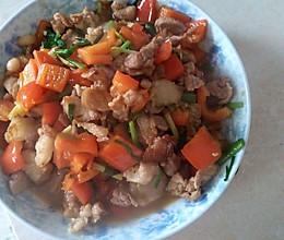 红辣椒炒肉的做法