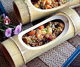 咸肉虾仁香菇糯米饭的做法