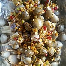 简单好吃的流行网红菜锡纸花甲粉丝金针菇