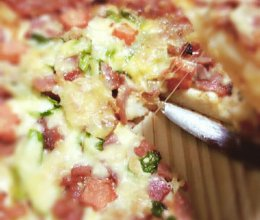 培根青椒披萨的做法