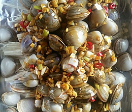 简单好吃的流行网红菜锡纸花甲粉丝金针菇的做法