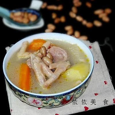 鸡脚花生土豆汤