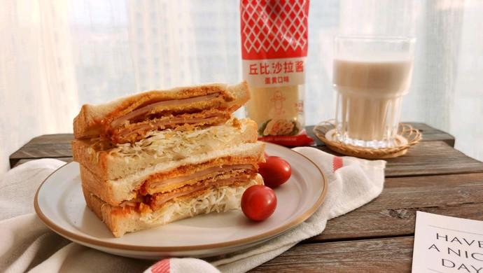 炸火腿三明治