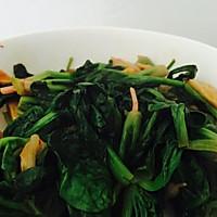 橄露Gallo经典特级初榨橄榄油试用之泡菜烩菠菜的做法图解7