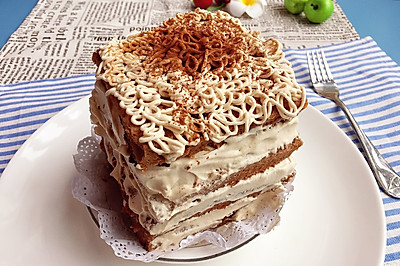 可可千层奶油裸蛋糕