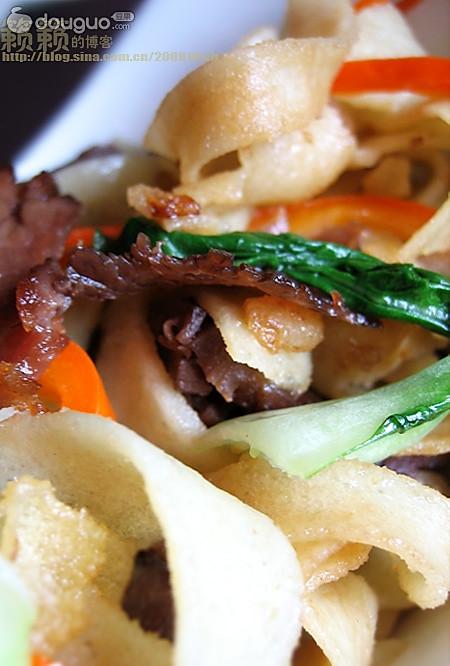 枯炒牛肉豆丝的做法