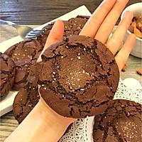 【双重巧克力海盐曲奇】不用打发黄油 0失败的甜品的做法图解11