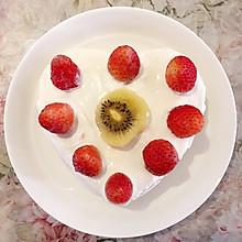 心形奶油草莓蛋糕