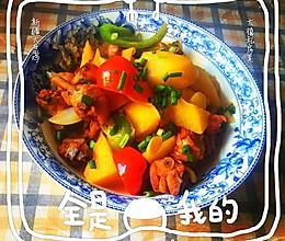 新疆大盘鸡拌面的做法