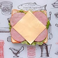 火腿芝士蛋三明治#百吉福食尚达人#的做法图解7