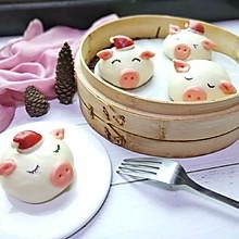 #年味十足的中式面点#小猪豆沙包