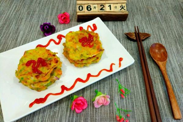 彩色蔬菜鸡蛋饼的做法