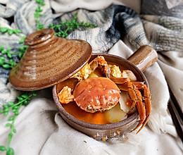 #好吃不上火#螃蟹年糕汤的做法