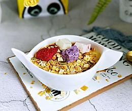 芒果酸奶水果干麦片#10分钟早餐大挑战#的做法