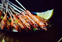 【孜然串烤虾】的做法