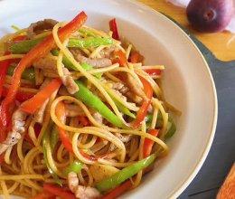 #巨下饭的家常菜#牛柳意大利面的做法