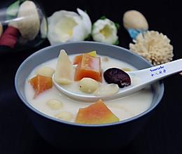 莲枣百合木瓜汤的做法