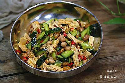 凉拌腐竹花生米