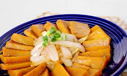 洋葱酱香南瓜的做法