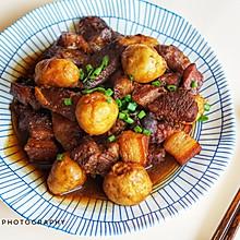 最家常也最美味~芋艿红烧肉~